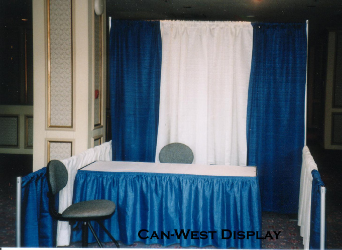 Draped Booths