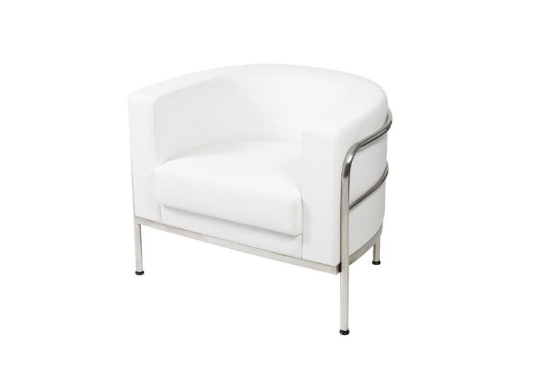 SS-6 Sculpted White Single Chair