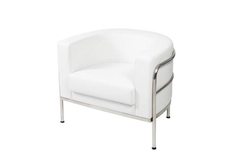 Merveilleux SS 6 Sculpted White Single Chair