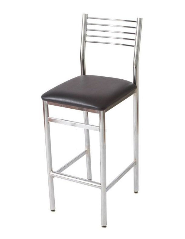 BS-20 Wire Back Chrome Black Seat