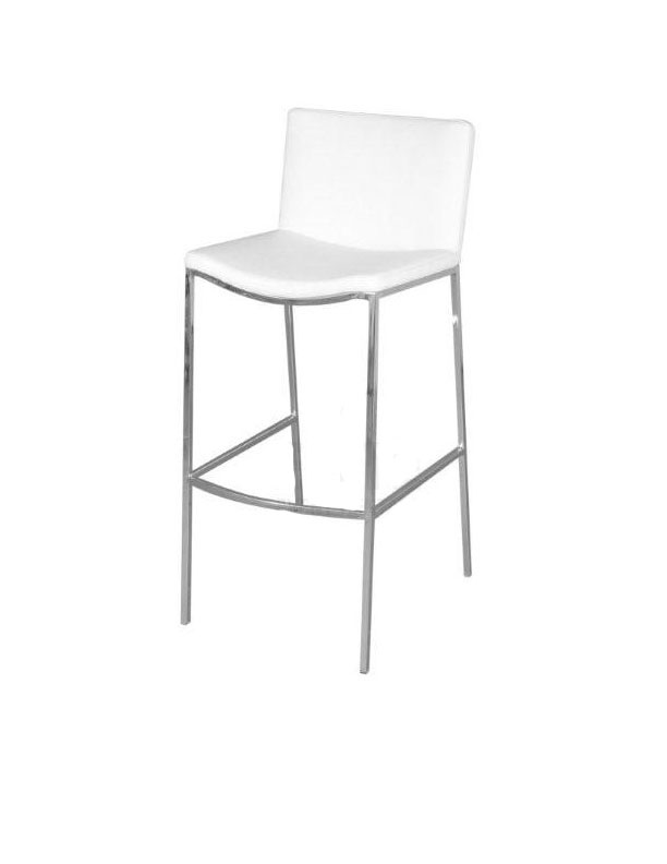 White Leather Bar Stool Buy Walnut And White Faux