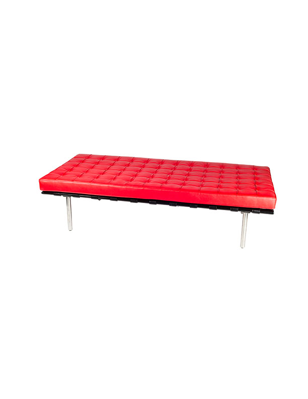 SS-92 Red Day Bed W36 H17 L77 soft seating Furniture Rental