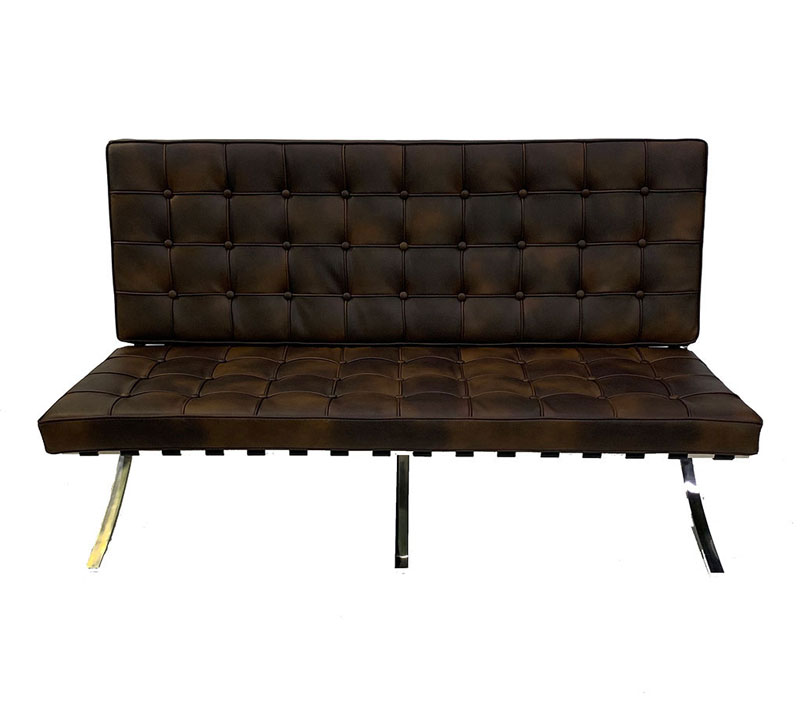 SS-36 Vancouver Brown Love Seat Furniture Rental