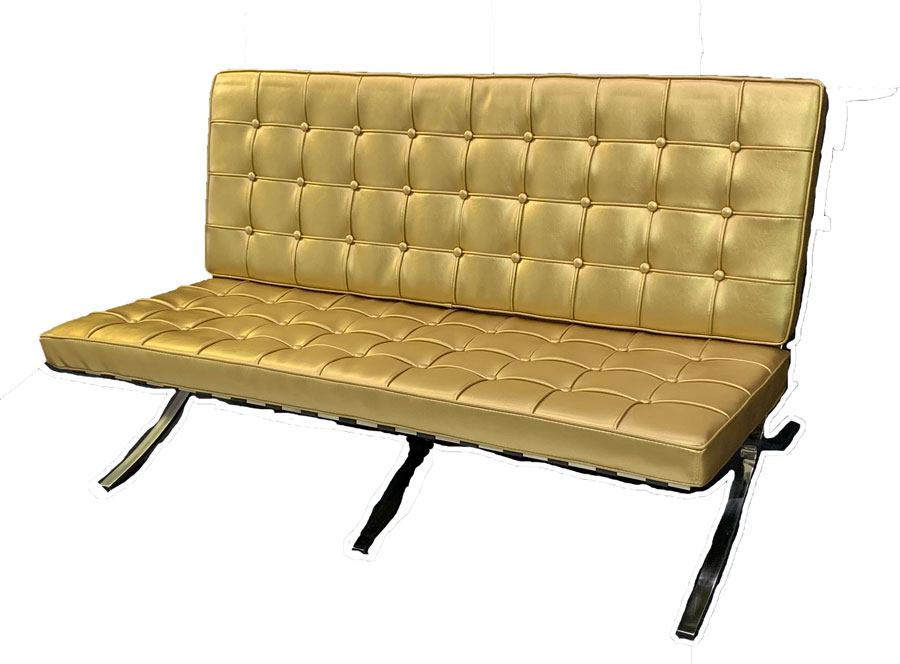 SS-21 Vancouver Gold Loveseat Furniture Rental