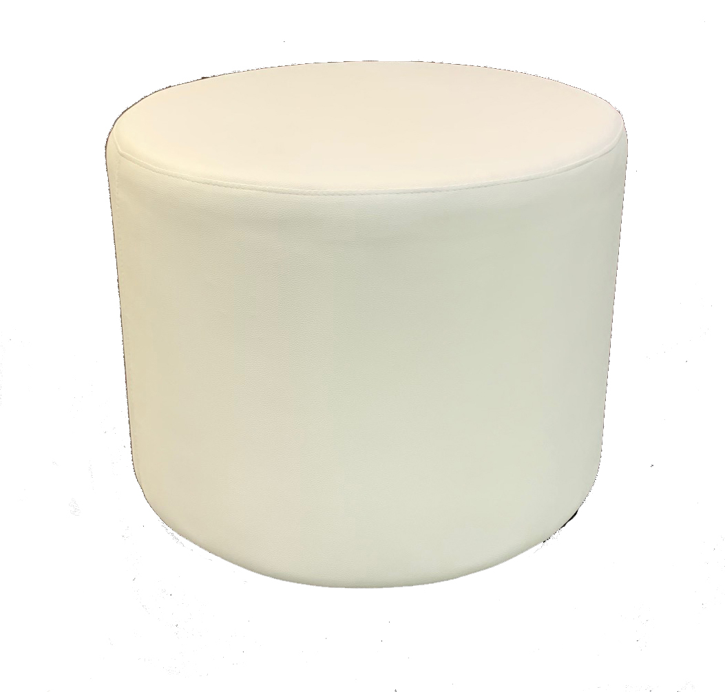 SS-54 White Round Stool Cube Furniture Rental