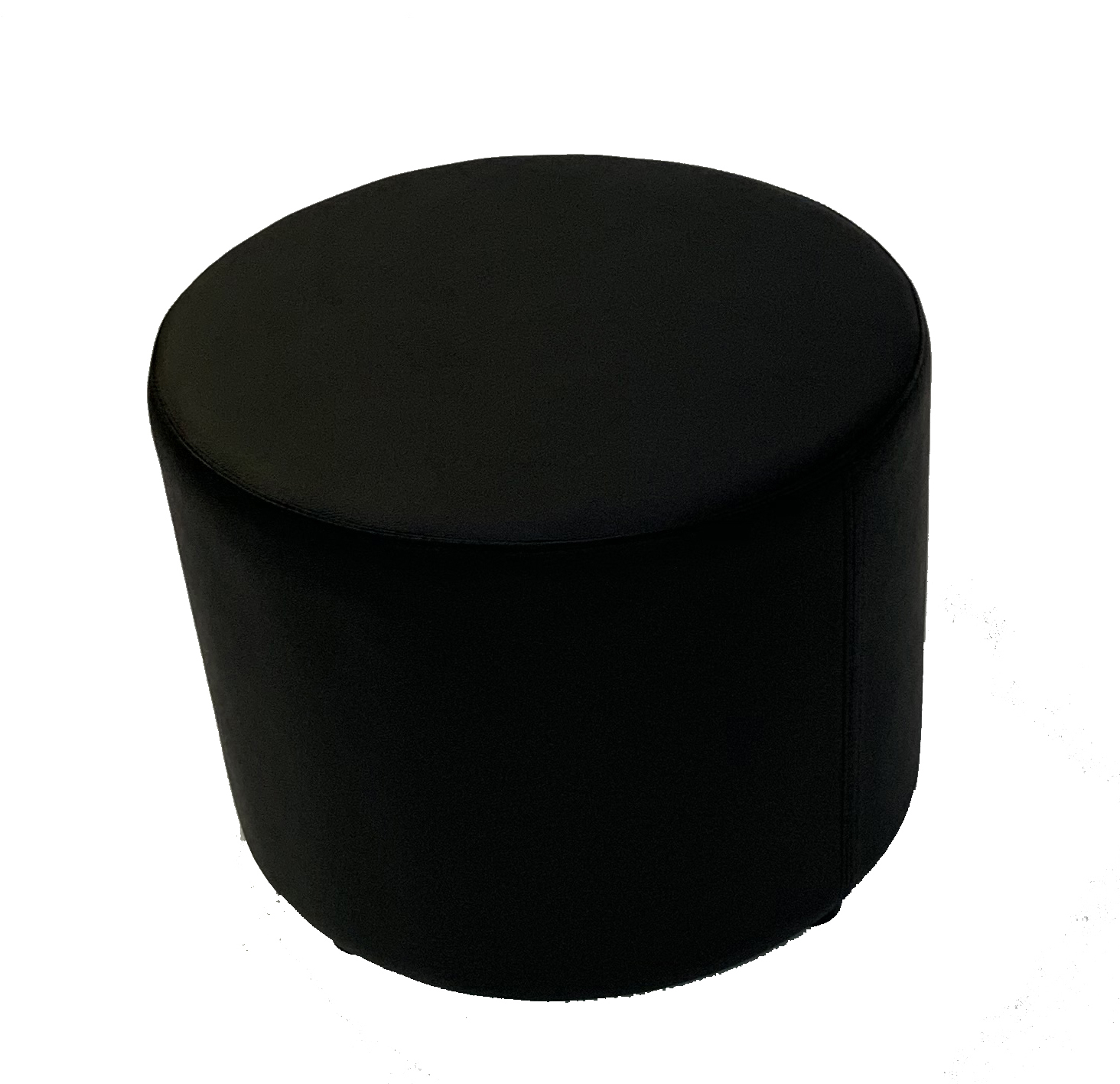 SS-55 Black Round Stool Cube Furniture Rental