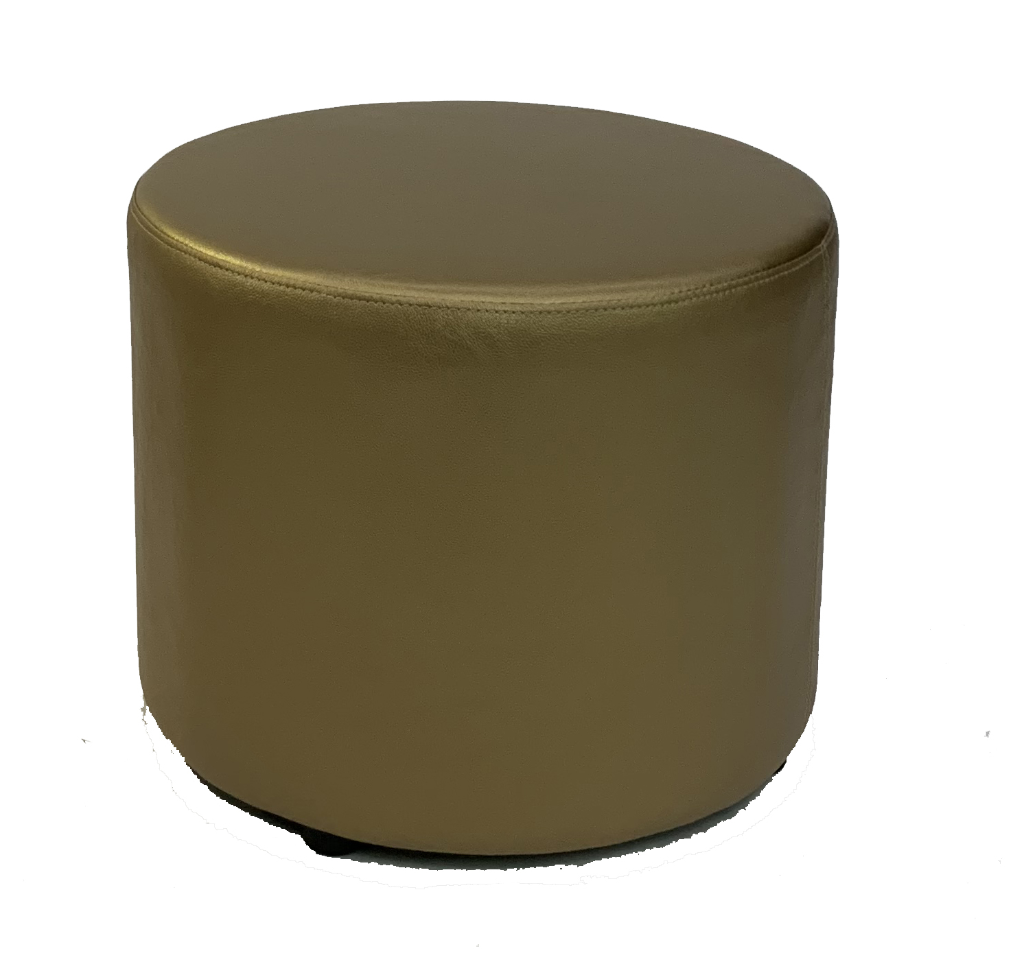 SS-58 Gold Round Stool Cube Furniture Rental